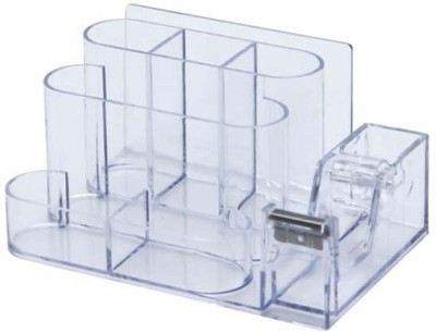 Apstationers 6 Compartments Plastic Pen stand