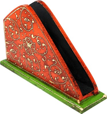 Bhavikaa 1 Compartments Wooden Tissue/Napkin Stand