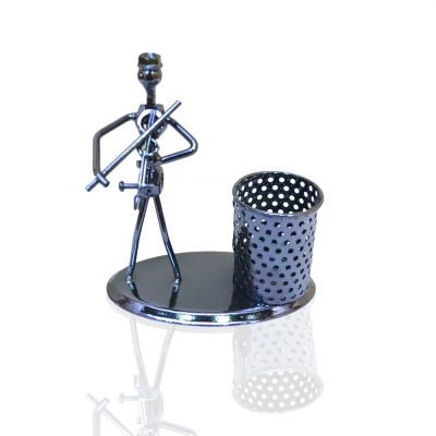 Jaycoknit Skeleton 1 Compartments Metal Pen stand