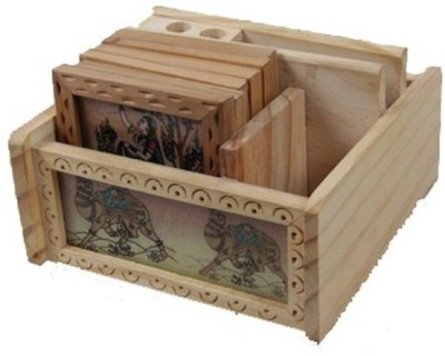 Gaura Art & Crafts 4 Compartments Wooden GACWGSPA001