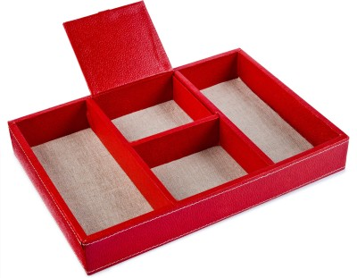 Ecoleatherette Regular 4 Compartments Paper Office Tray