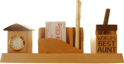 Tiedribbons Tabletop-103 1 Compartments Wooden Desk Sets