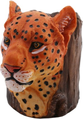Tootpado 1 Compartments Resin Leopard Animal Design Pen Stand