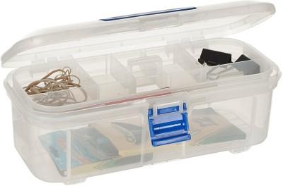 Howards Storage Box 7 Compartments Plastic Stationery Organiser