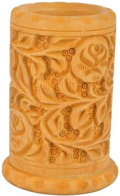 Rajkruti Handicraft 1 Compartments Wooden Pen Stand