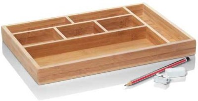 Howards Pha0024h 7 Compartments Bamboo Desk Organiser