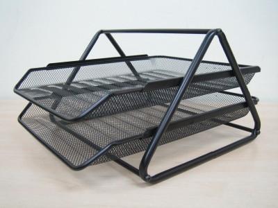 Dingguagua Magazine Tray 2 Compartments Metal Mesh Tray