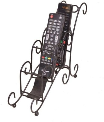 Onlineshoppee 3 Compartments Iron Remote Stand