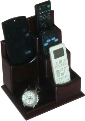 SLK Wood Products 4 Compartments MDF Remote and Mobile Holder