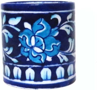 Aurea 1 Compartments Blue Pottery / Ceramic Multipurpose Holder