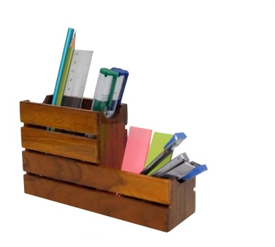 D,sign Lab 2 Compartments Wooden Pen Holder