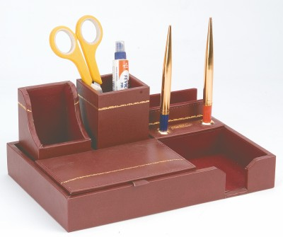 Kebica 5 Compartments LEATHER LEATHER PENSTAND