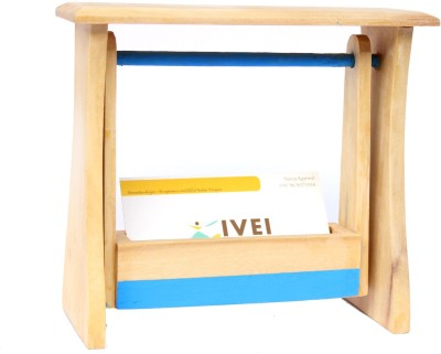 Ivei 1 Compartments Wooden Visiting Card Holder