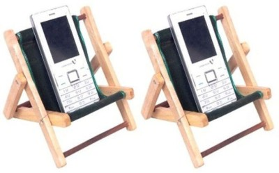 Onlineshoppee 2 Compartments wood Mobile Holder