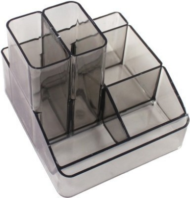 Indigo Creatives 6 Compartments Plastic Pen Stand