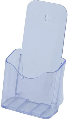 Kebica 1 Compartments Plastic 1/3 of A4 Size (4 x 9 inch) Trifold Brochure Holder Stand