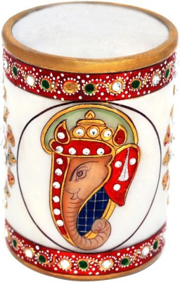 Handicrafts Paradise 1 Compartments Marble Pen Holder