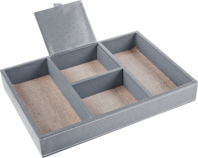 Ecoleatherette 4 Compartments Paper Office Tray