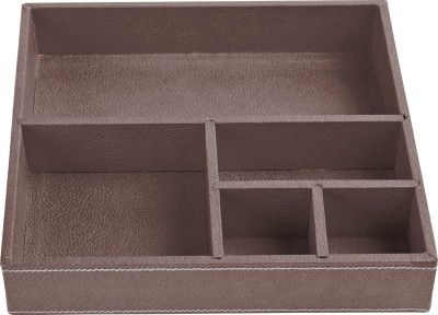 Ecoleatherette 5 Compartments Paper Office Tray