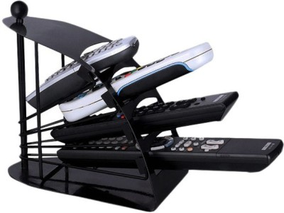 Aadishwar Creations 4 Compartments Metallic Body Remote Stand