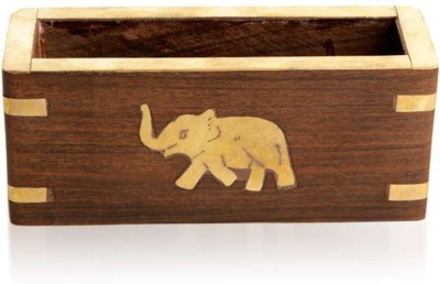 Home Sparkle 1 Compartments Wood Visiting Card Holder