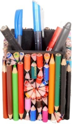 Aahum 1 Compartments Wooden Handmade Pen Stand