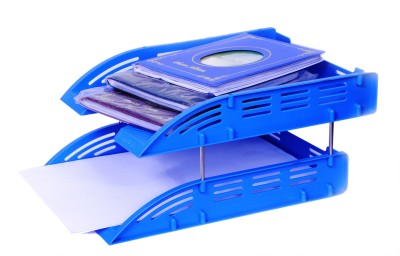 Chrome 2 Compartments Plastic Document Tray