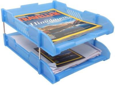 Saya Trey 2 Compartments Plastic Document Holder