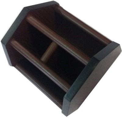 AOC Stand 4 4 Compartments Wood Pen stand