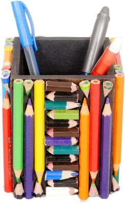 Aahum 1 Compartments Wood, Natraj Color Pencils Pen Stand