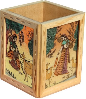 Handicrafts Paradise GSWW 1 Compartments Wooden Penholder