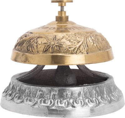 Artistic Handicrafts 1 Compartments Metal Desk bell