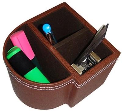 Essart T-15B 3 Compartments Wooden Pen Holder