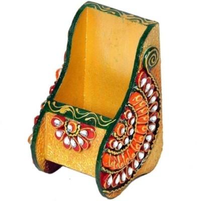 Bajya Beautiful Kundan Meenakari 1 Compartments Wooden Burst Proof