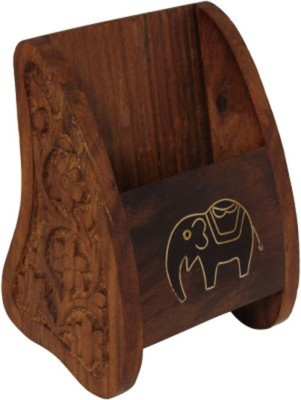 Craftatoz 1 Compartments wood mobile stand