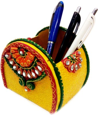 JaipurCrafts Rajasthan 1 Compartments Papier Mache Pen Holder