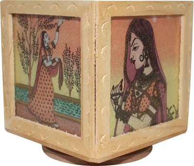 Paramsai 3 Compartments Wood Pen Stand
