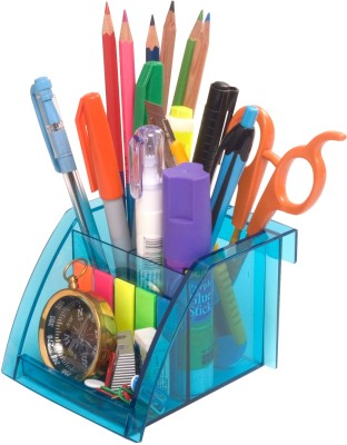 Solo 3 Compartments Resin Pen Stand - Set of 4