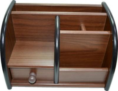 AOC 8001-1 6 Compartments Wood Pen Holder