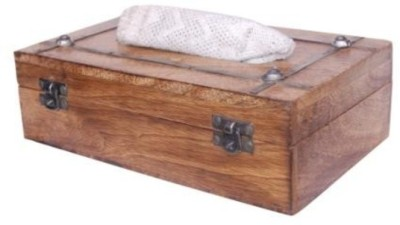 Onlineshoppee 1 Compartments Wooden Tissue Box