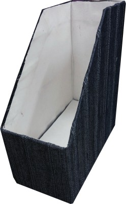 Indha Craft IC Recycled Paper 1 Compartments Card Board, Denim Magazine Holder