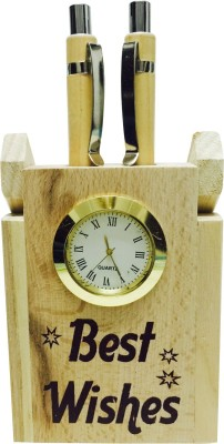 Priyankish 1 Compartments Wooden Pen Holder