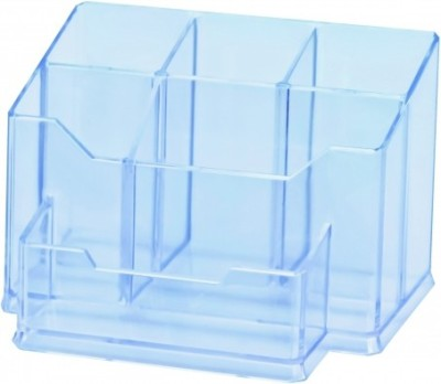 Apstationers 5 Compartments Plastic Pen Stand