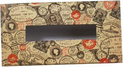 Thecrazyme Take Me Back Stamps 1 Compartments Eco-Friendly leatherette Tissue Box Holder