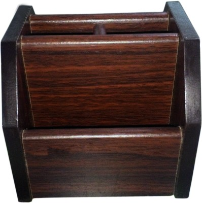xingli 4 Compartments wooden stationart and pen container