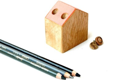 Saaheli Wod2 4 Compartments Wood Pen Holder