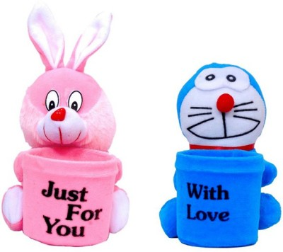 Arthr Soft Toys 2 1 Compartments Plastic, Febric Pen Stand