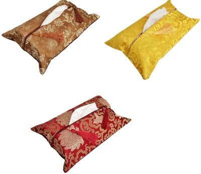 SG Tissue Box Covers 1 Compartments Satin Tissue Box Cover
