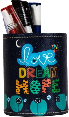 Thecrazyme Love Dream Hope 1 Compartments Eco-Friendly leatherette Pen Stand