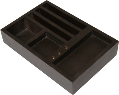 Big Retail Impex 9 Compartments Wooden Office accessories tray